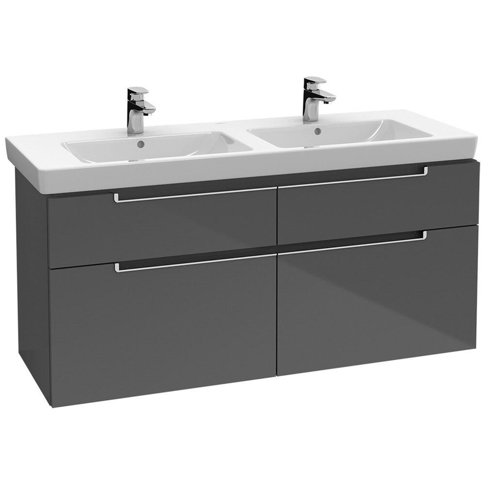 villeroy boch subway 2 0 waschtischunterschrank xxl 128 7 cm a91710 ms megabad. Black Bedroom Furniture Sets. Home Design Ideas