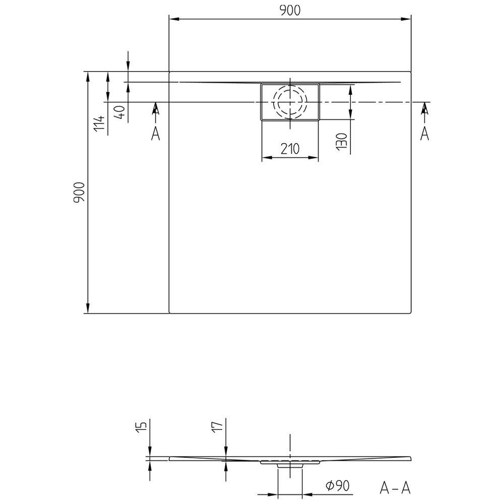 villeroy boch architectura metalrim uda9090ara115v 01. Black Bedroom Furniture Sets. Home Design Ideas