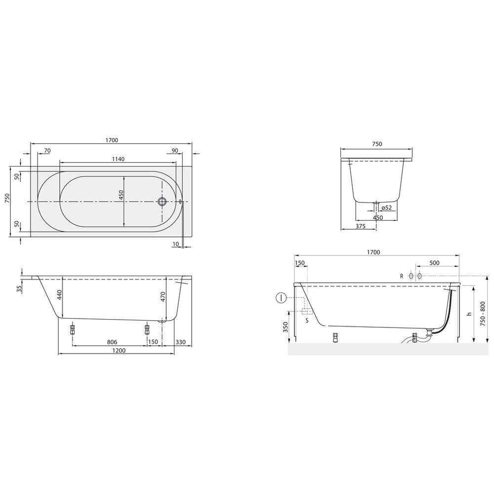 villeroy und boch o novo badewanne energiemakeovernop. Black Bedroom Furniture Sets. Home Design Ideas