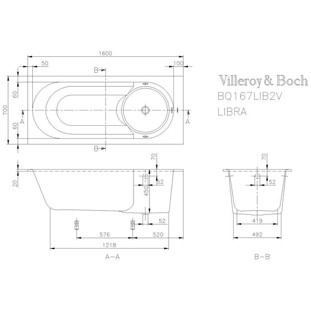 badewannen villeroy und boch preise rechteck acrylbadewanne cm made by villeroy boch inkl. Black Bedroom Furniture Sets. Home Design Ideas