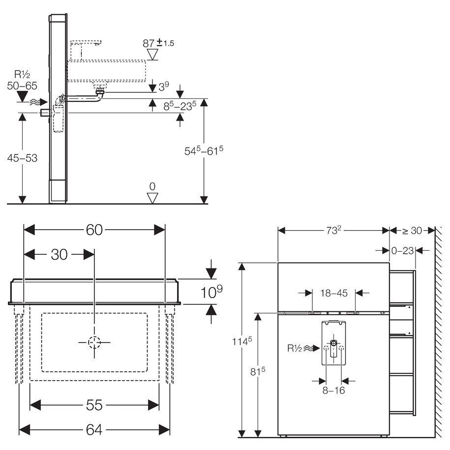 geberit monolith sanit rmodul f r wandh ngende waschtische. Black Bedroom Furniture Sets. Home Design Ideas