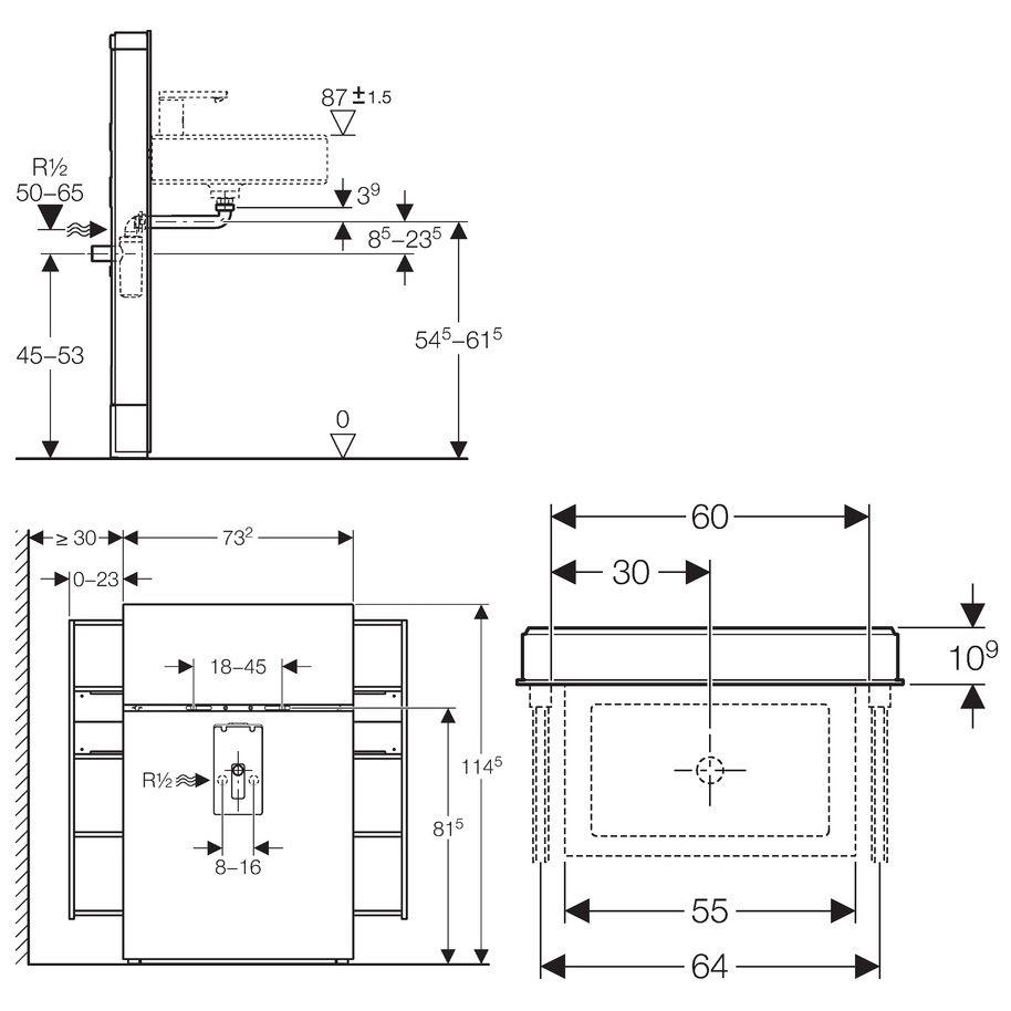 geberit monolith sanit rmodul f r wandh ngende waschtische und standarmaturen megabad. Black Bedroom Furniture Sets. Home Design Ideas