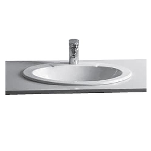 vitra s20 einbauwaschtisch oval 60 cm 60300b003 0001 megabad. Black Bedroom Furniture Sets. Home Design Ideas