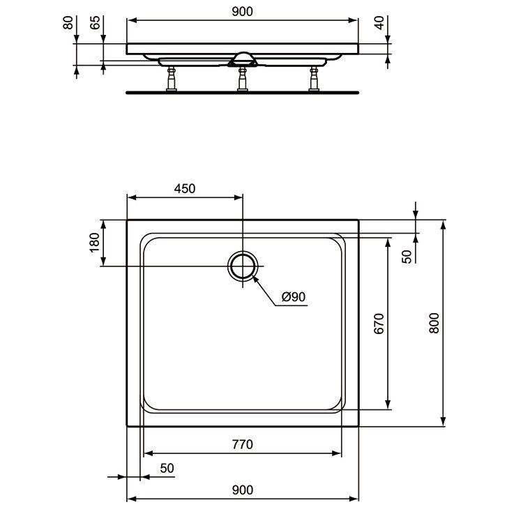 ideal standard hotline neu duschwanne k277301 megabad. Black Bedroom Furniture Sets. Home Design Ideas