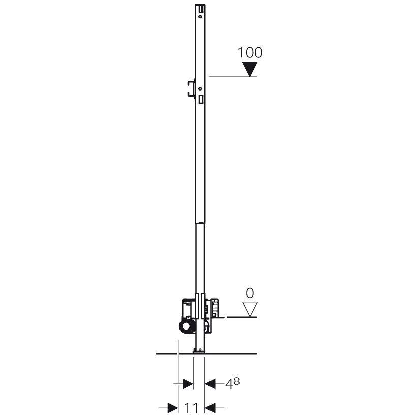 geberit duofix element f r dusche 130 cm mit wandablauf wandarmatur. Black Bedroom Furniture Sets. Home Design Ideas