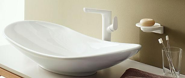 villeroy boch l 39 aura armaturen und badaccessoires megabad. Black Bedroom Furniture Sets. Home Design Ideas