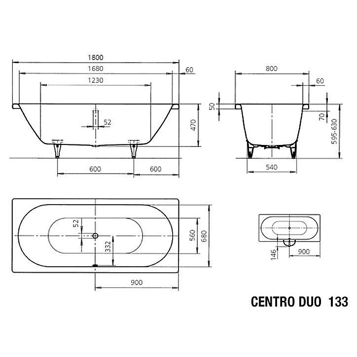 kaldewei centro duo 133 badewanne 180 x 80 cm megabad. Black Bedroom Furniture Sets. Home Design Ideas