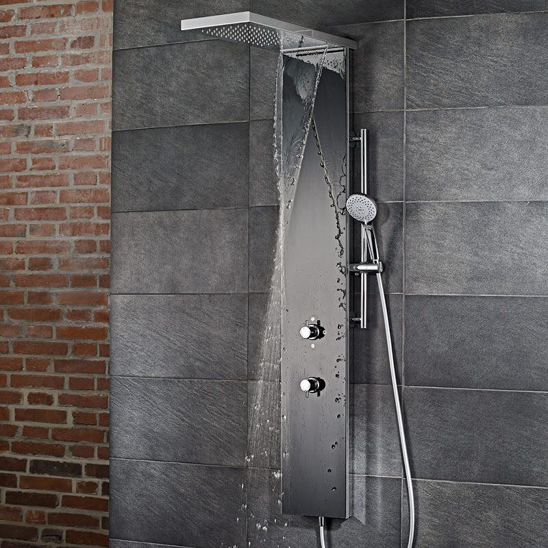 hsk lavida plus duschpaneel mit schwallfunktion wandmont 1900017 glaswei megabad. Black Bedroom Furniture Sets. Home Design Ideas