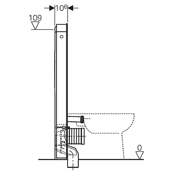 geberit monolith plus sanit rmodul f r stand wc 114 5 cm mit p anschlussbogen megabad. Black Bedroom Furniture Sets. Home Design Ideas