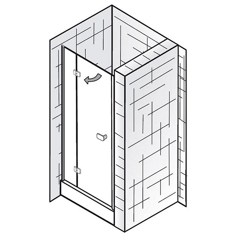 hsk premium softcube dreht r f r nische t ranschlag links sonderma megabad. Black Bedroom Furniture Sets. Home Design Ideas