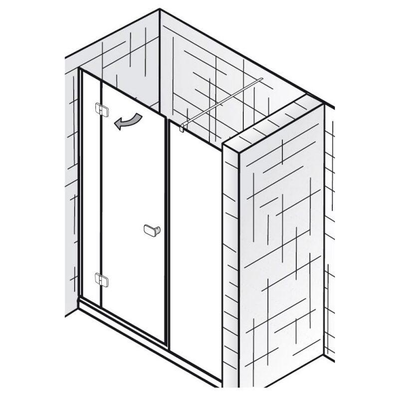 hsk premium softcube nischent r dusche 3 teilig 160 cm 6803160 megabad. Black Bedroom Furniture Sets. Home Design Ideas