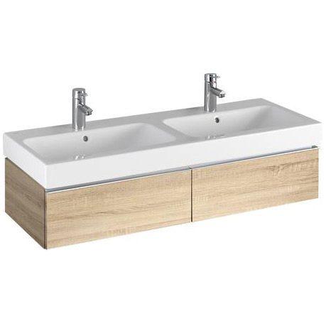 keramag icon waschtischunterschrank f r doppelwaschtisch 841222 megabad. Black Bedroom Furniture Sets. Home Design Ideas