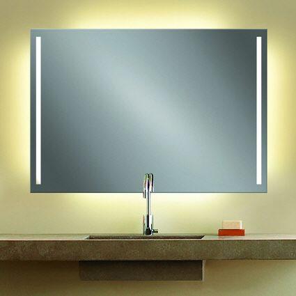 Zierath remo lichtspiegel hinterleuchtet 130 x 70 cm remo13070 megabad - Badspiegel led hinterleuchtet ...