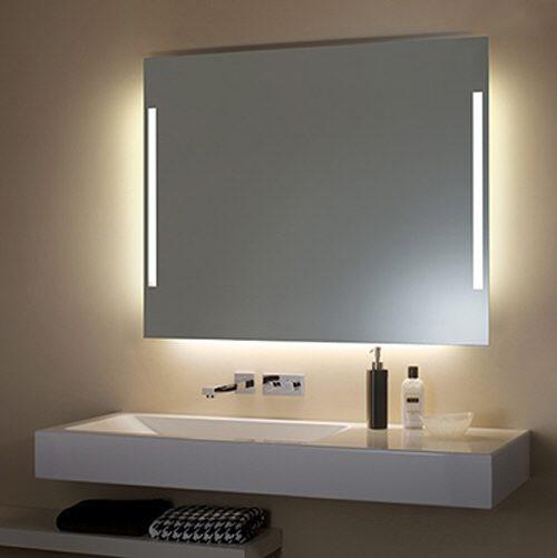 zierath torino spiegel hinterleuchtet 130 x 100 cm. Black Bedroom Furniture Sets. Home Design Ideas