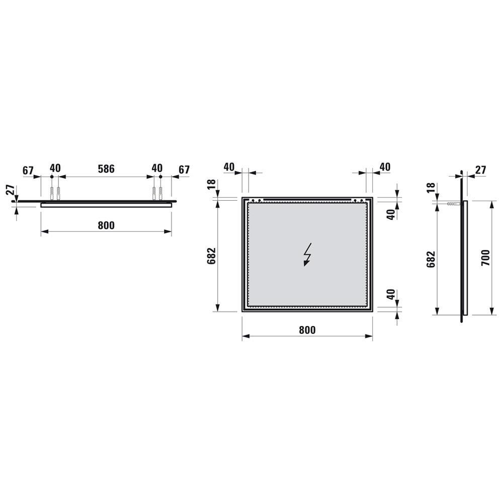 laufen frame 25 spiegel 80 x 70 cm h4474049001441 megabad. Black Bedroom Furniture Sets. Home Design Ideas
