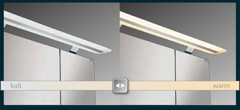 Wundervoll Lanzet Spiegelschrank 80 cm mit LED-Aufbauleuchte L6 7287512 - MEGABAD AR75