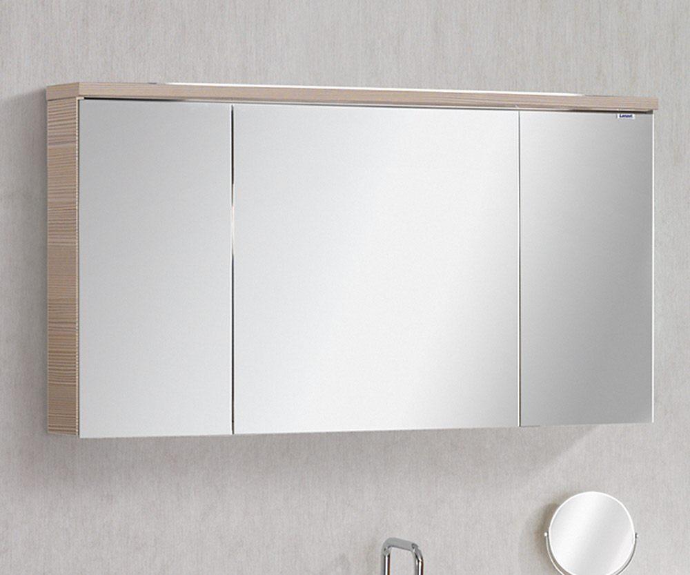 Lanzet Spiegelschrank 120 cm mit Aufbauleuchte L4 7188512 - MEGABAD