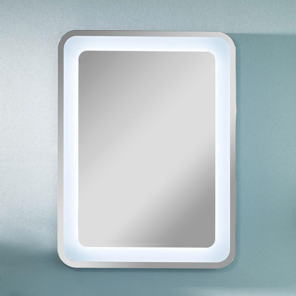 Badezimmerspiegel mit led beleuchtung  Lanzet M9 Spiegelelement 80 x 60 cm mit indirekter LED-Beleuchtung ...