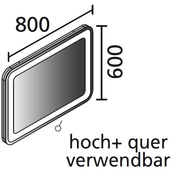 lanzet m9 spiegelelement 80 x 60 cm mit indirekter led beleuchtung und sensor 7209212 megabad. Black Bedroom Furniture Sets. Home Design Ideas