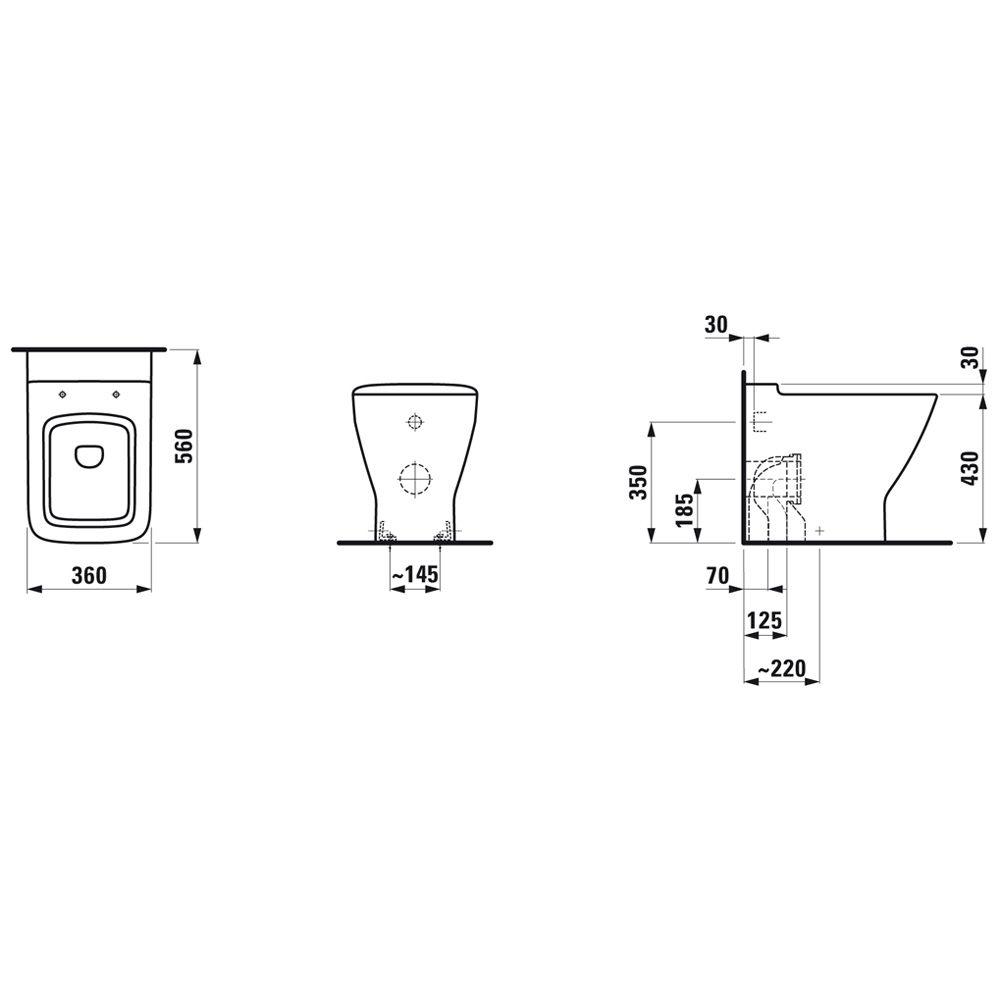laufen palace stand wc tiefsp ler 8237010000001 megabad. Black Bedroom Furniture Sets. Home Design Ideas