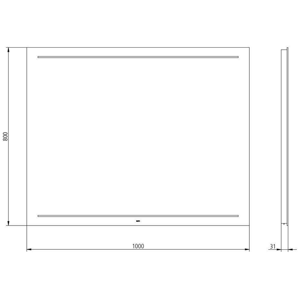 Sam Miro Lite Led Lichtspiegel 100 X 80 Cm Dimmbar