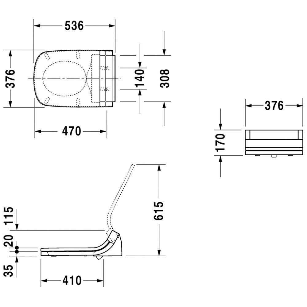 duravit durastyle e sensowash dusch wc sitz. Black Bedroom Furniture Sets. Home Design Ideas