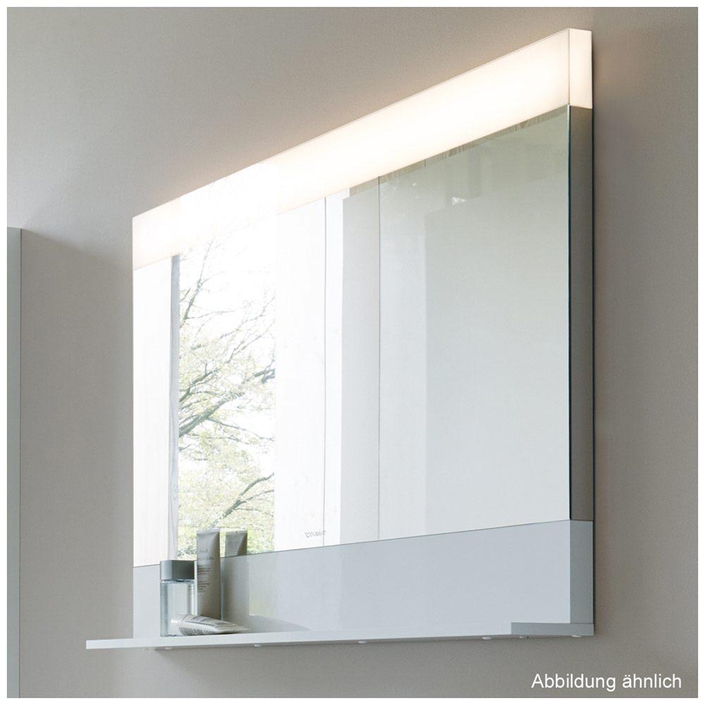 Frisch Duravit Vero Spiegel 120 x 80 cm mit Beleuchtung & Ablagefläche  LN77