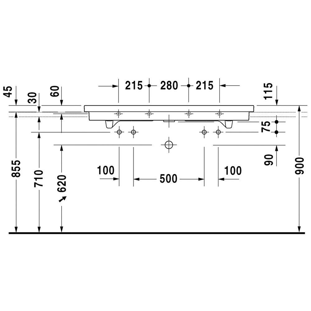 duravit 2nd floor doppelwaschtisch geschliffen 120 cm mit. Black Bedroom Furniture Sets. Home Design Ideas