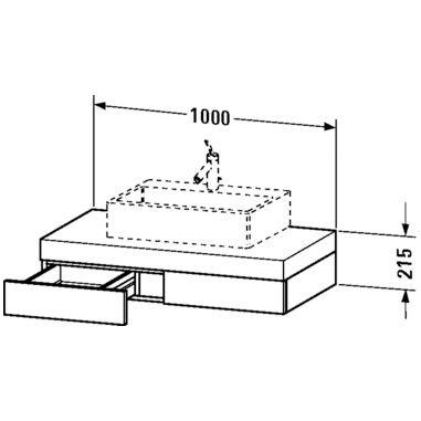 duravit fogo konsole mit schubkasten art fo852201313. Black Bedroom Furniture Sets. Home Design Ideas