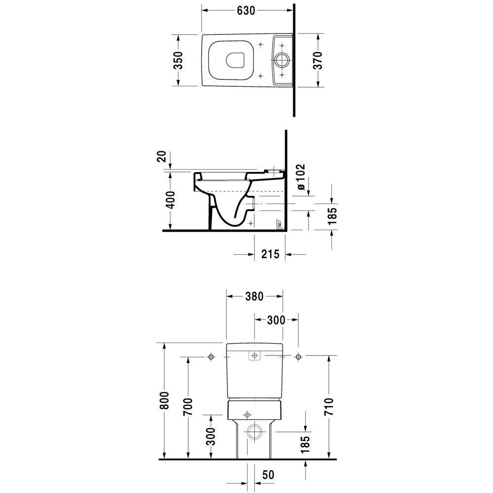 duravit vero stand wc kombination 211609 megabad. Black Bedroom Furniture Sets. Home Design Ideas