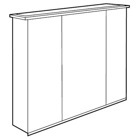 keramag option spiegelschrank plus led 90 cm 800391 megabad. Black Bedroom Furniture Sets. Home Design Ideas