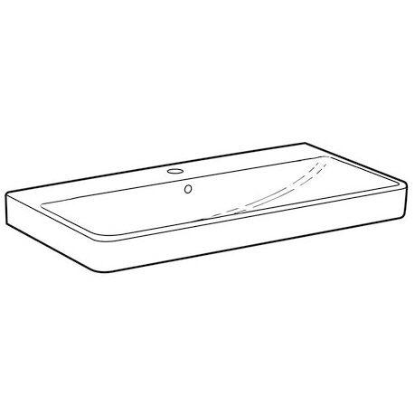 keramag smyle waschtisch 90 cm 120590000 megabad. Black Bedroom Furniture Sets. Home Design Ideas