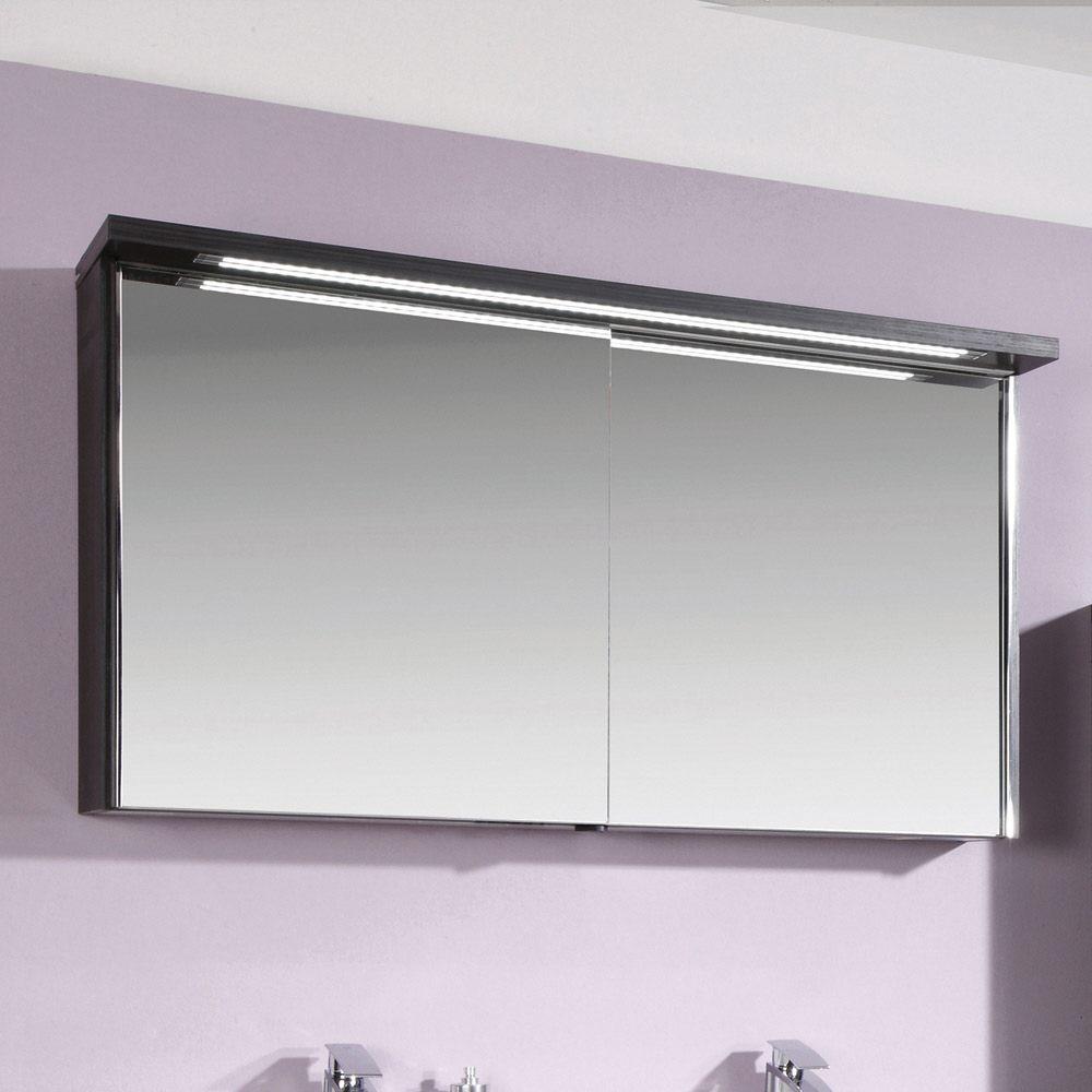 Puris Star Line Spiegelschrank 120,2 x 15 x 66,8 cm mit LED ...