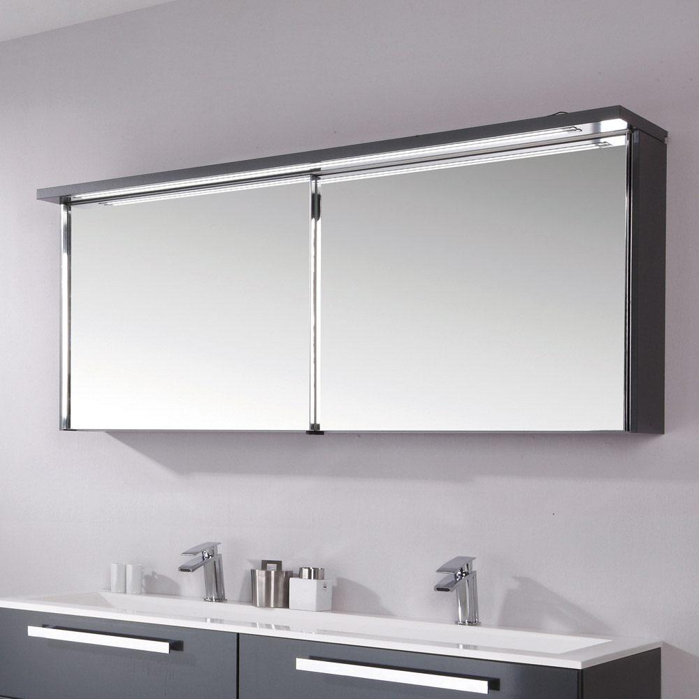 Puris Star Line Spiegelschrank 160,2 x 15 x 66,8 cm mit LED ...