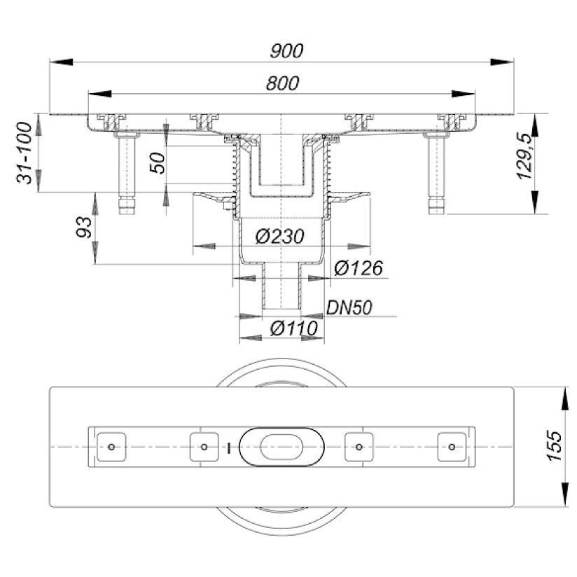 dallmer ceraline senkrecht f 800 521637 megabad. Black Bedroom Furniture Sets. Home Design Ideas
