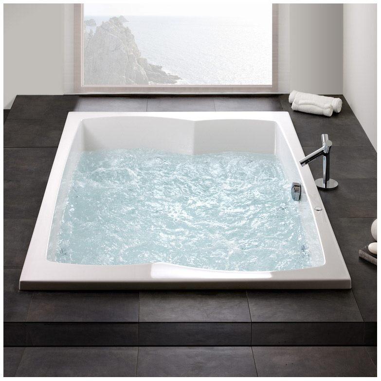 hoesch largo rechteck whirlpool 200 x 140 cm mit reviva ii. Black Bedroom Furniture Sets. Home Design Ideas