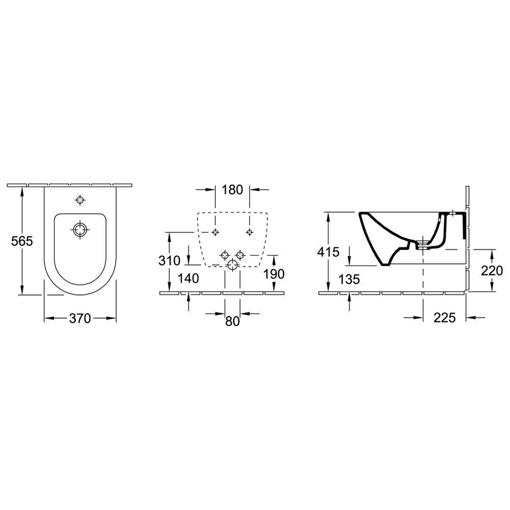villeroy boch subway 2 0 wand bidet 540000xx megabad. Black Bedroom Furniture Sets. Home Design Ideas