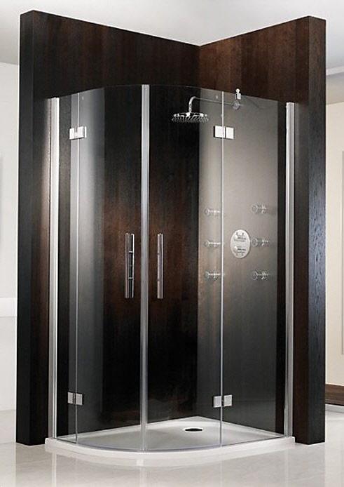 hsk atelier runddusche 4 teilig 80 x 90 x 200 cm megabad. Black Bedroom Furniture Sets. Home Design Ideas