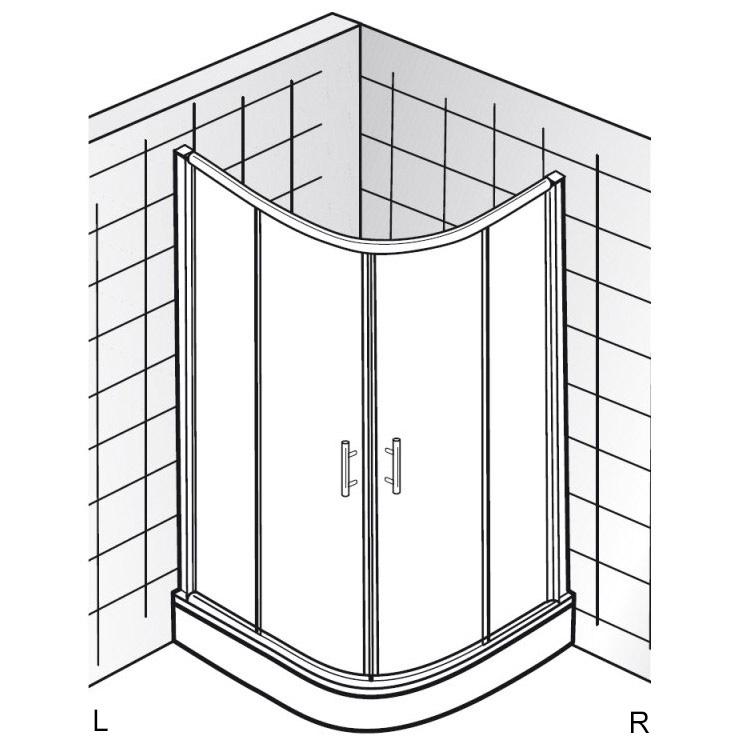 hsk favorit gleitt r als runddusche 90 x 90 cm megabad. Black Bedroom Furniture Sets. Home Design Ideas