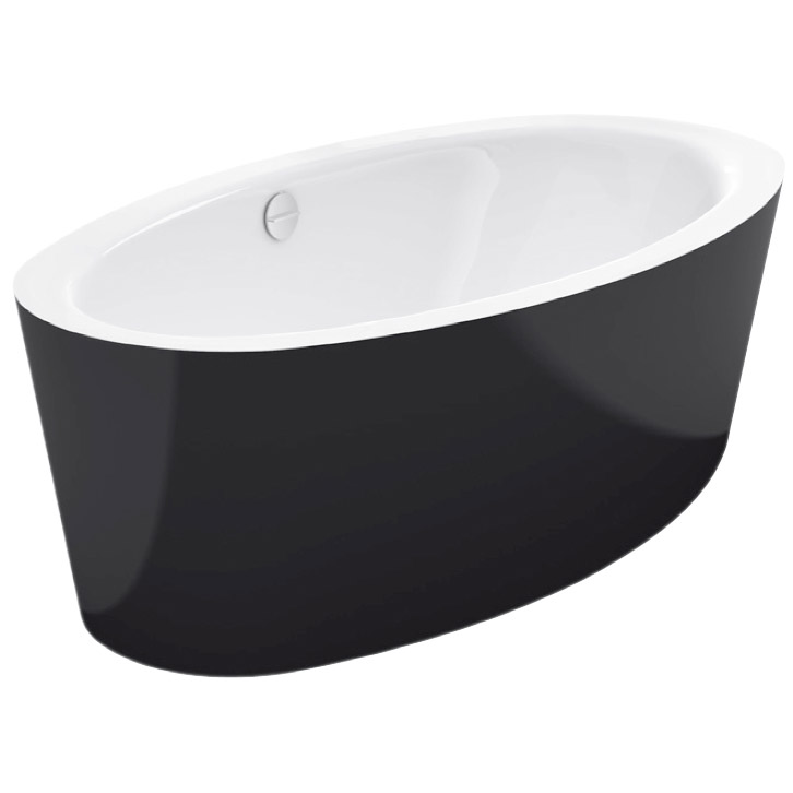 Bette Home Oval Silhouette freistehende Badewanne 180 x 100 cm in ... | {Freistehende badewanne oval 50}