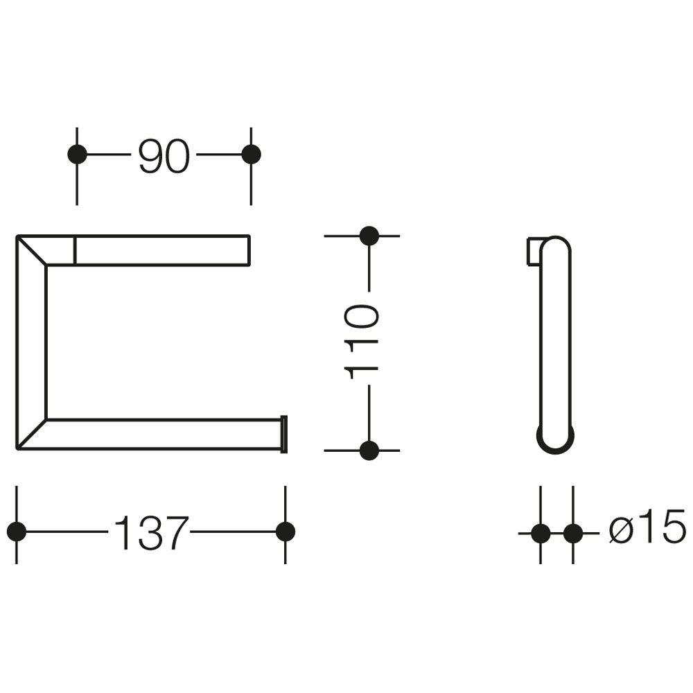hewi system 162 wc papierhalter megabad. Black Bedroom Furniture Sets. Home Design Ideas