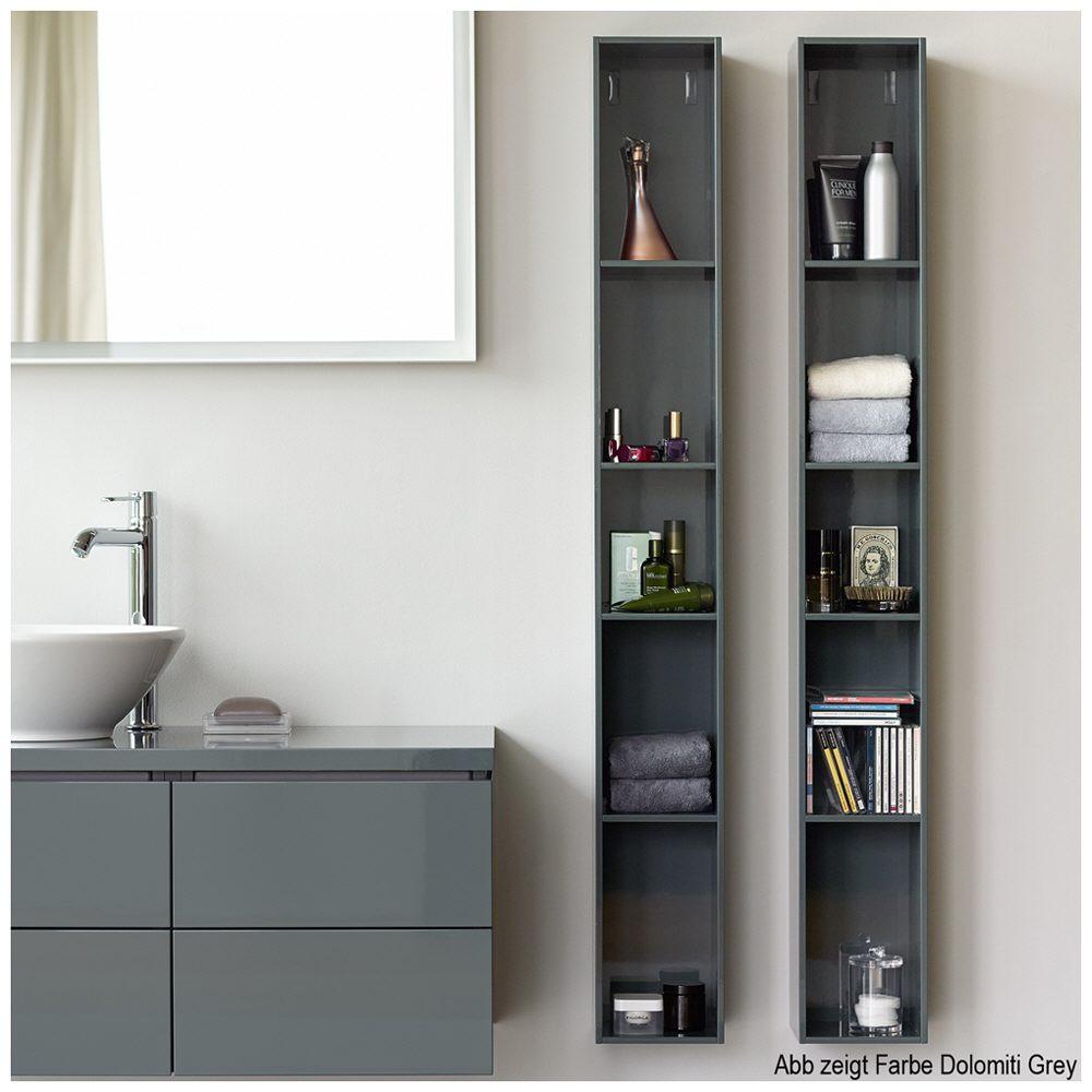 duravit l cube regalelement vertikal mit 4 f cher 18 x 18 cm lc120502222 megabad. Black Bedroom Furniture Sets. Home Design Ideas