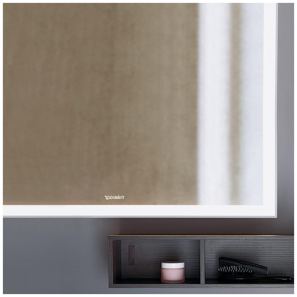 Duravit l cube spiegel mit led beleuchtung 200 x 70 cm for Spiegel led beleuchtung