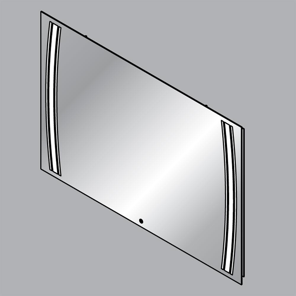 Fackelmann led spiegelelement rl 100 100 x 68 cm 73290 - Fackelmann spiegel led ...