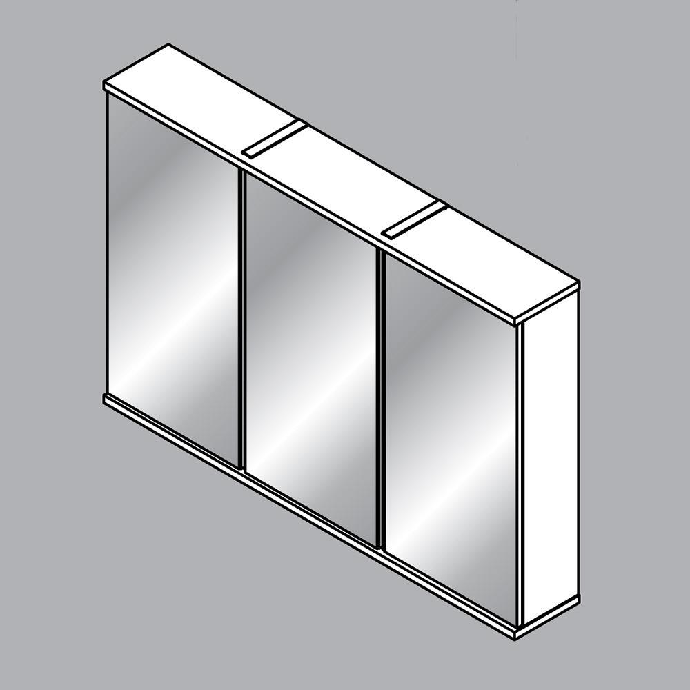 Fackelmann rondo spiegelschrank 100 5 x 68 cm mit led - Fackelmann spiegel led ...