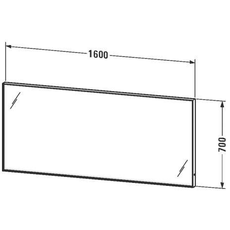 duravit l cube spiegel mit led beleuchtung 160 x 70 cm lc738500000 megabad. Black Bedroom Furniture Sets. Home Design Ideas