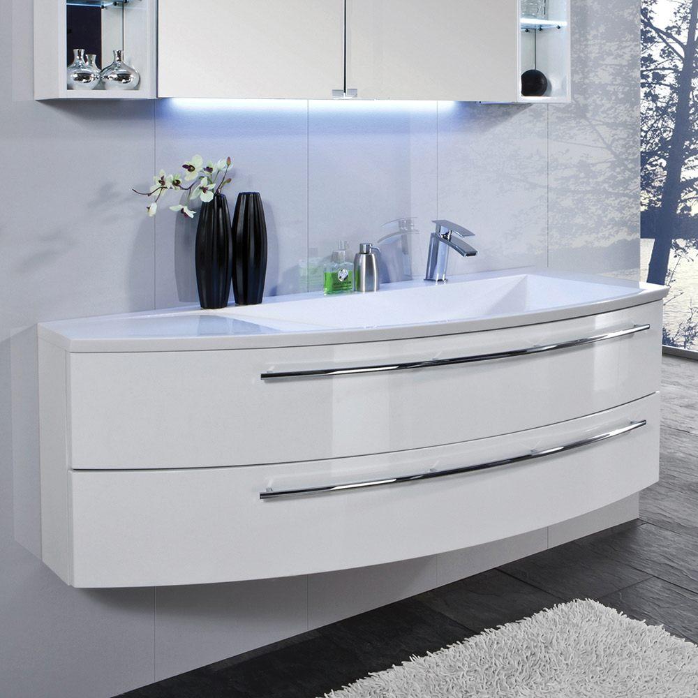 Puris crescendo waschtischunterschrank 140 x 47 x 48 cm f r waschtisch mit ablage links - Waschtischunterschrank 140 ...