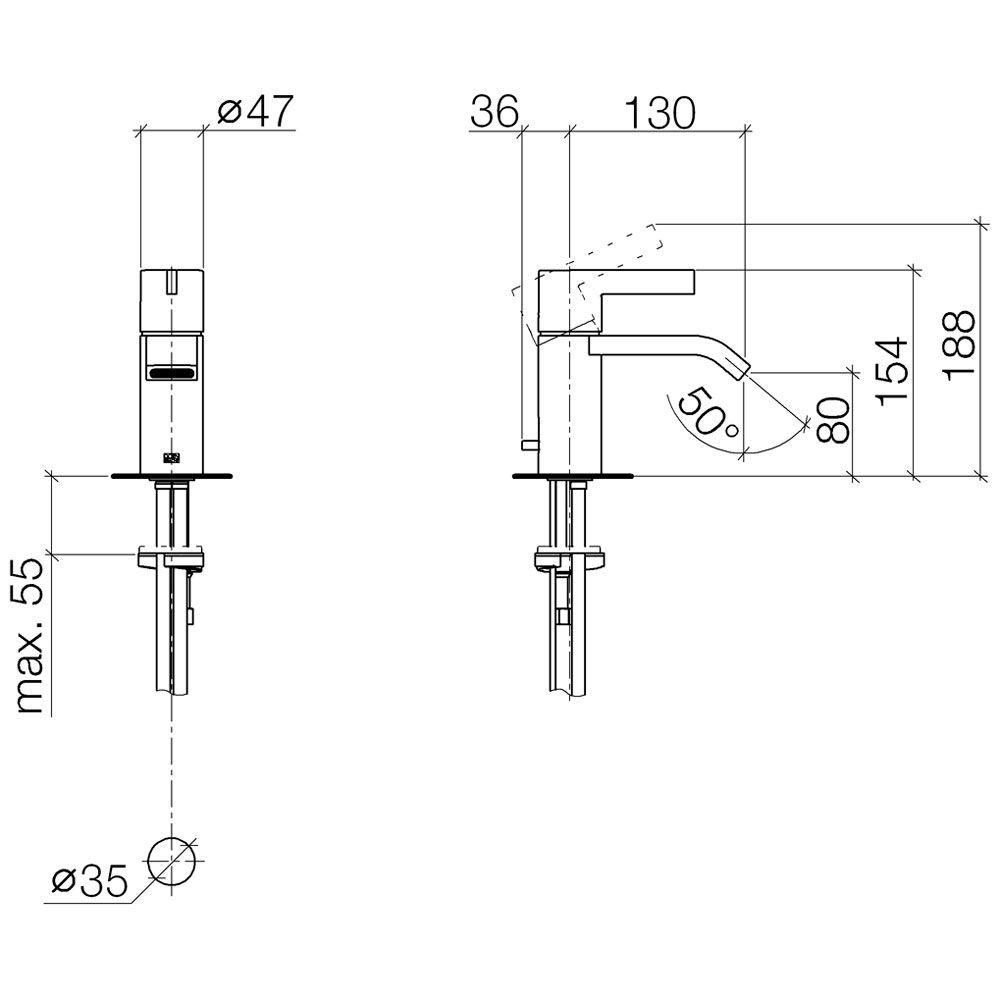Dornbracht Imo Dusche : Dornbracht IMO Waschtisch-Einhandbatterie 33500670-00 – MEGABAD