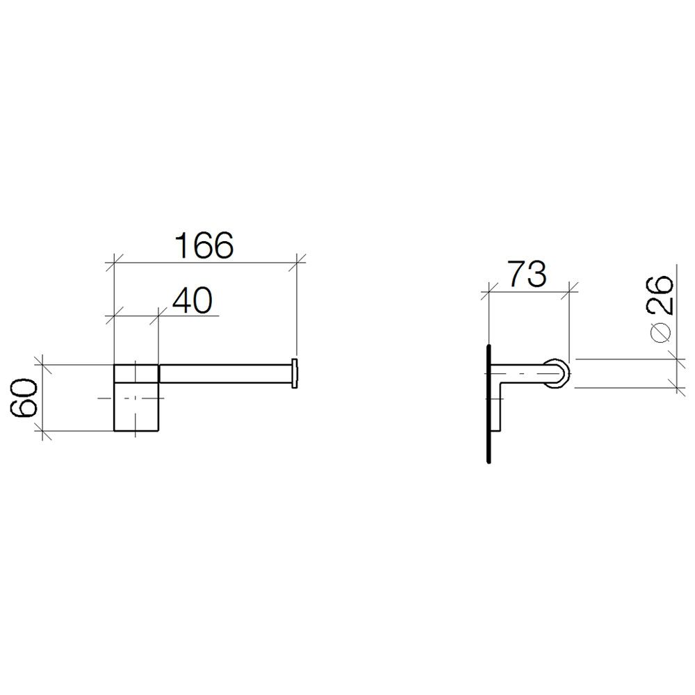 Dornbracht Imo Dusche : Dornbracht IMO Papierrollenhalter ohne Deckel 83500670-00 – MEGABAD