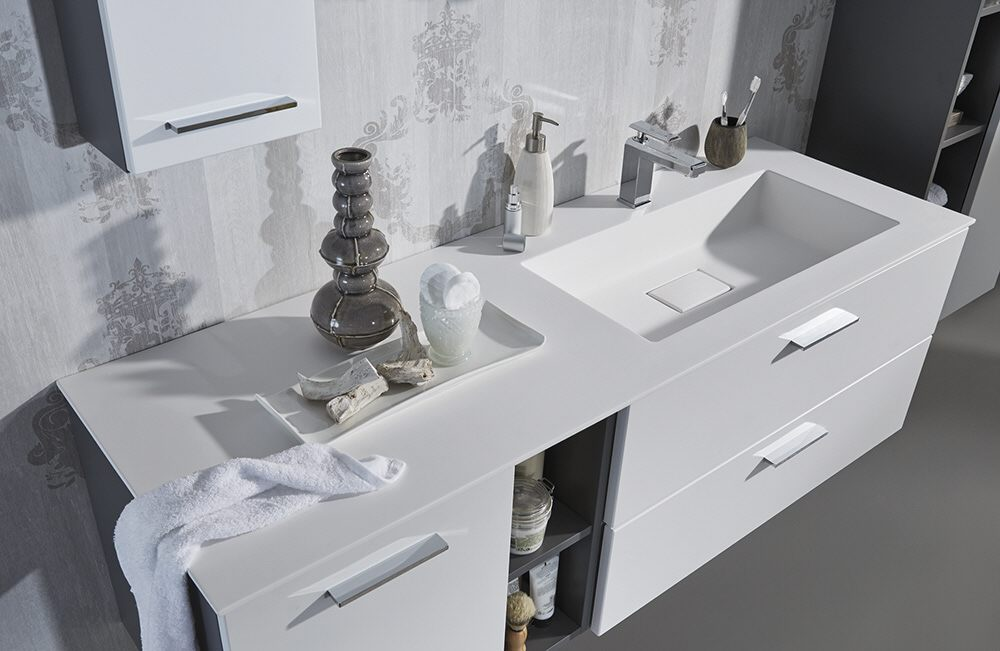 Puris milano lavandino waschtisch 120 cm ablage links for Waschtische 120
